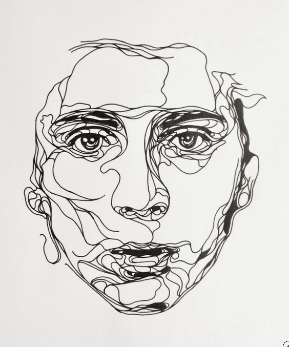 Line Drawing Of Face : Pin by negin sgh on quot faces pinterest drawings