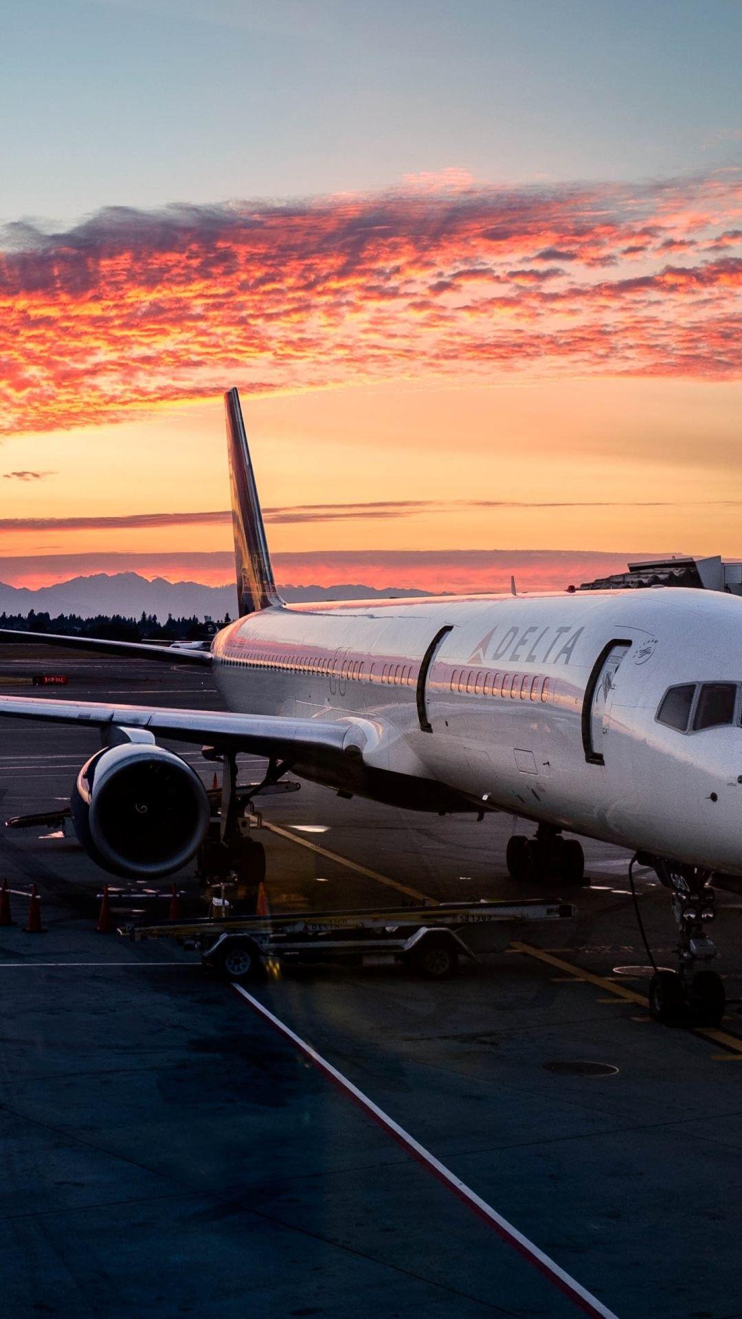hd airplane iphone wallpaper Günbatımları, Havacılık