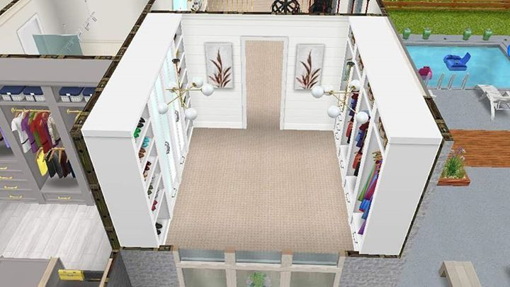 Walk In Closet Idea Sims House Sims Freeplay Houses Sims House Plans