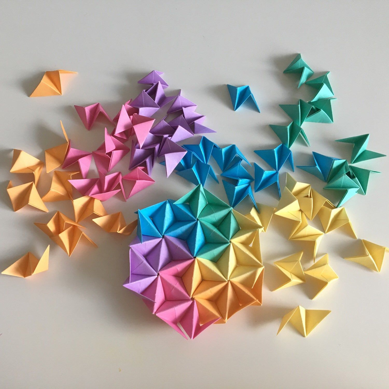 Geometric Origami Wall Art, Modular Origami Art, Origami ...