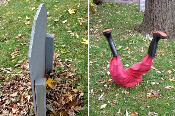 DIY Yard Art Ideas Unusual Ideas for Diy Halloween Decor for Front