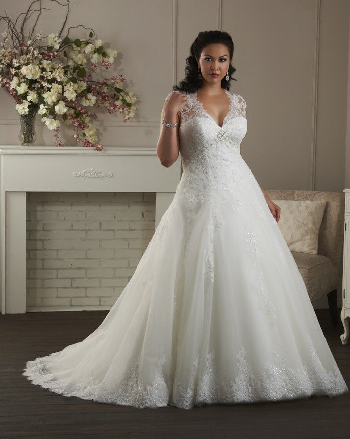vestido de novia manga corta alto cubierto encaje escote en v corte