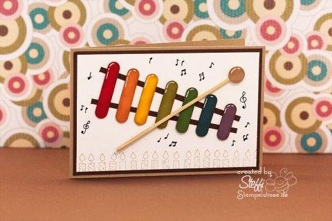Geburtstagskarte für Kinder – Xylophon