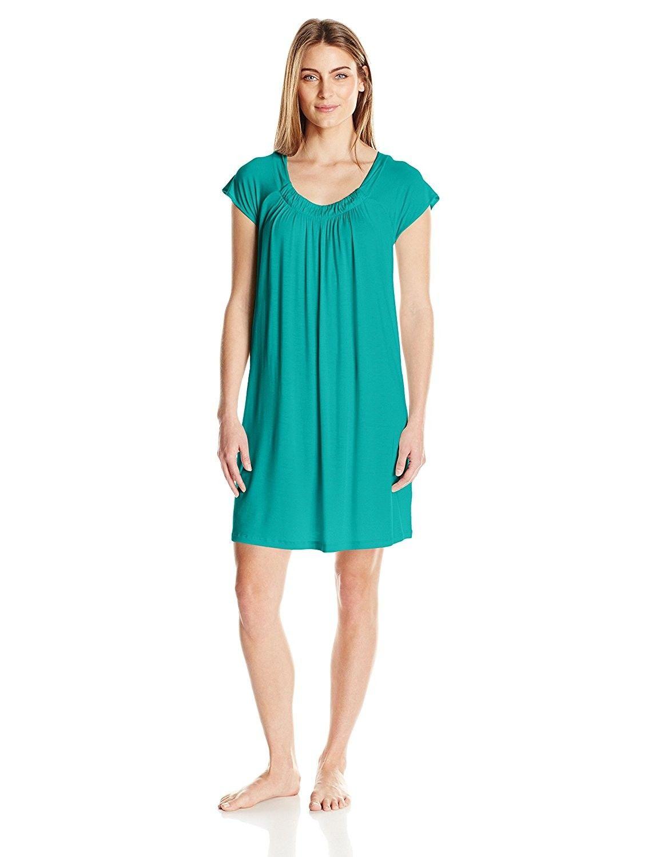 Women s Short Sleeve Nightshirt - Peacock - CA185S7K3IR  e75ffb2ad