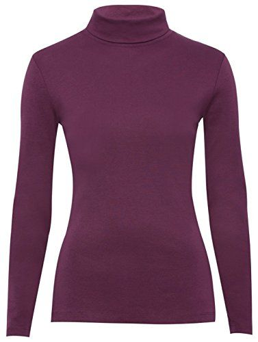 796bbee500c Fashion Valley Womens Plain Long Sleeve Turtle Polo Neck Top Ladies Roll  Neck Top Jumper 8