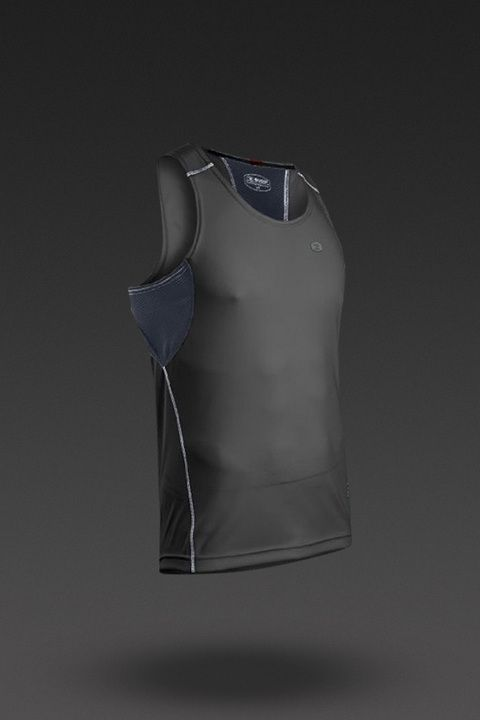 Men's RSR Singlet in Black/Gunmetal