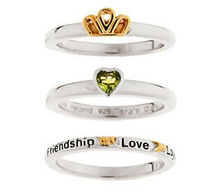 Tara's Diary Set of 3 Claddagh Stack Rings