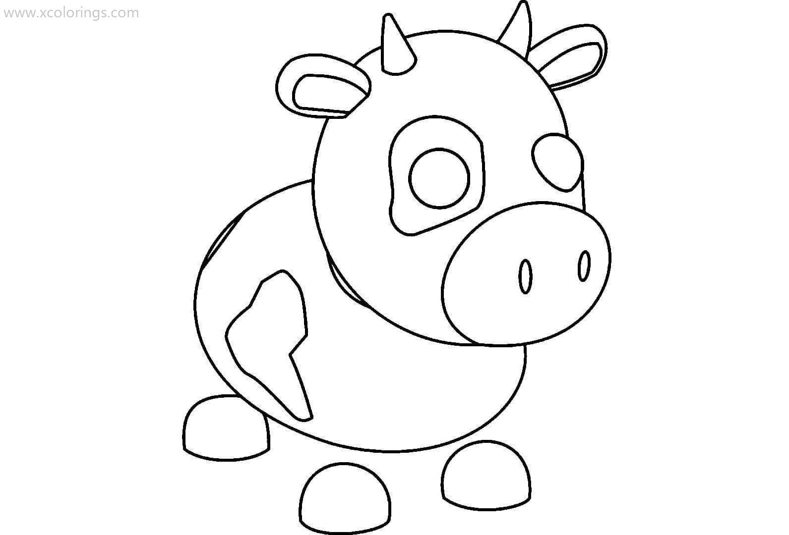 Roblox Adopt Me Coloring Pages Cow Pets Drawing Cow Coloring Pages Unicorn Coloring Pages