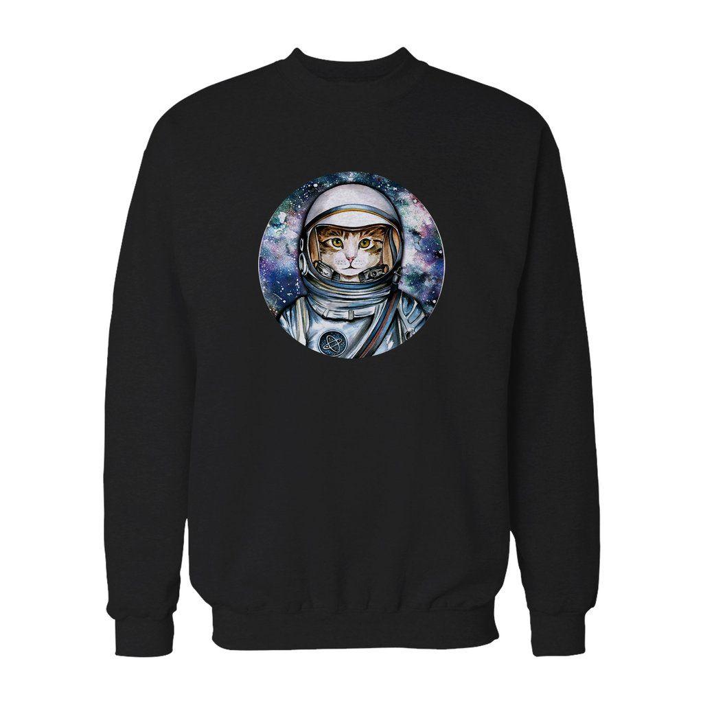 The Space Cat Astronaut Galaxy Sky Outer Crazy Kawaii Kitty Retro Sweatshirt Astronaut Cat Retro Sweatshirts Space Cat [ 1024 x 1024 Pixel ]