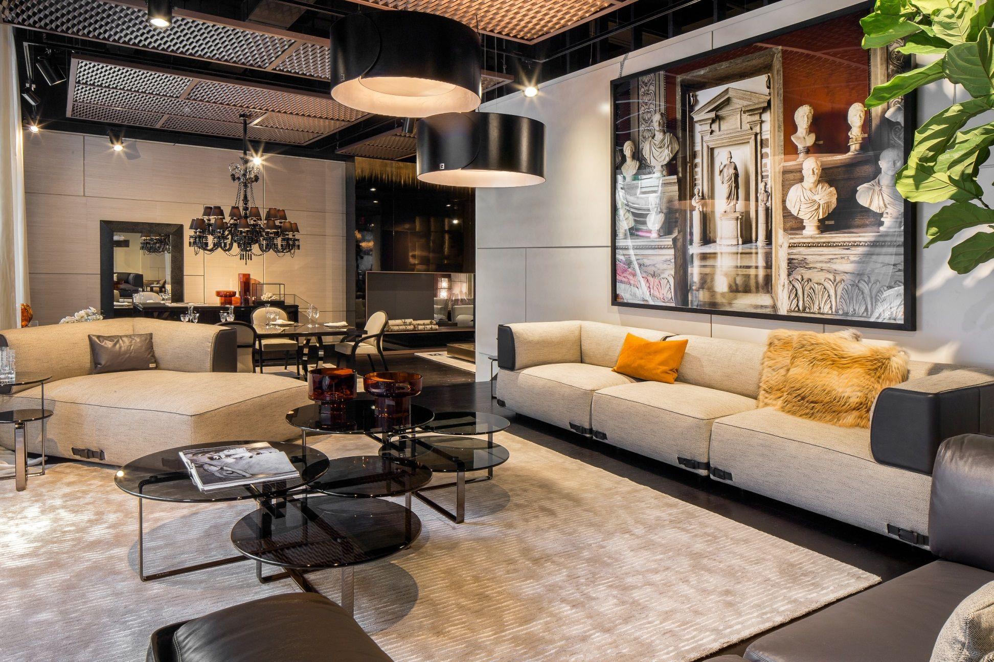 Living Room Interior Fendi Casas Showroom In New York City