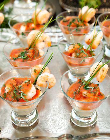 Shrimp cocktail mesas saladas y buffets pinterest - Aperitivos de mariscos ...