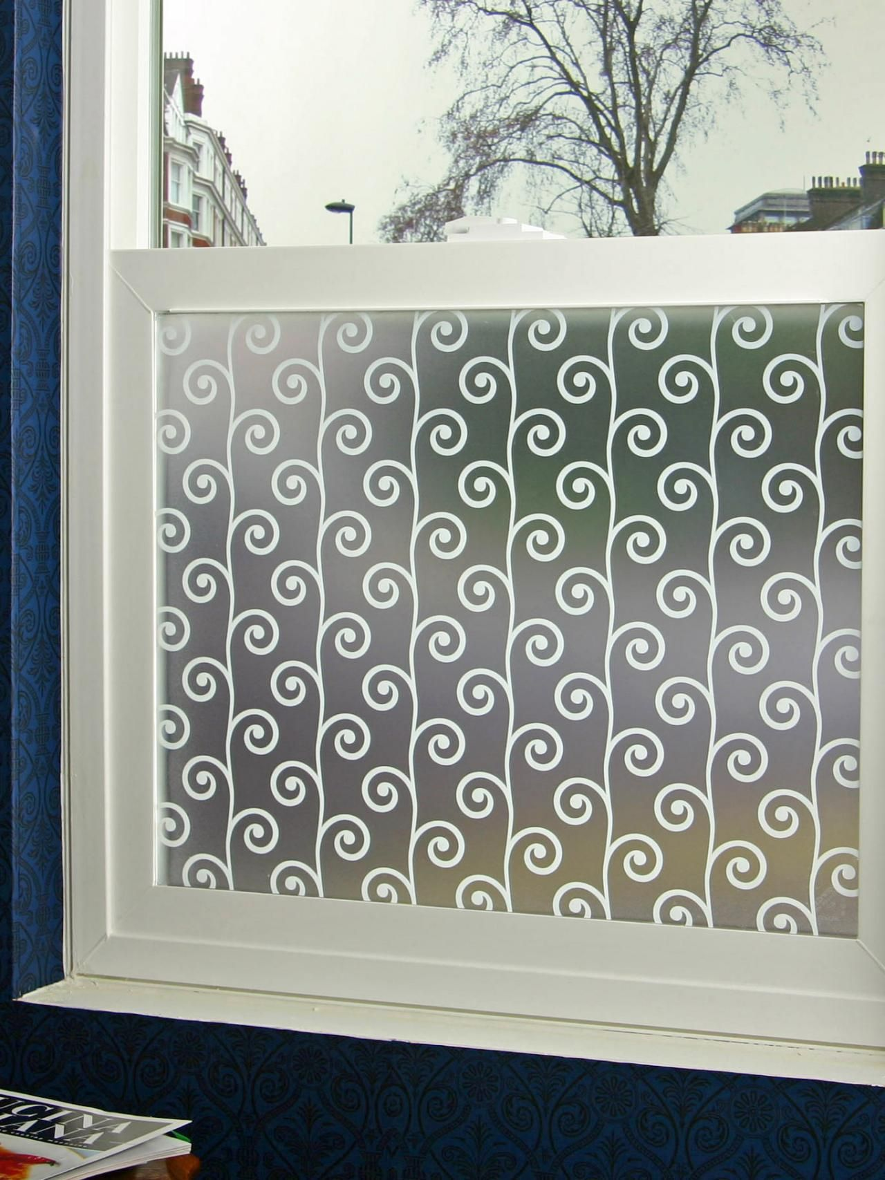 Bathroom Privacy Window bathroom window treatments for privacy | window film, valance and