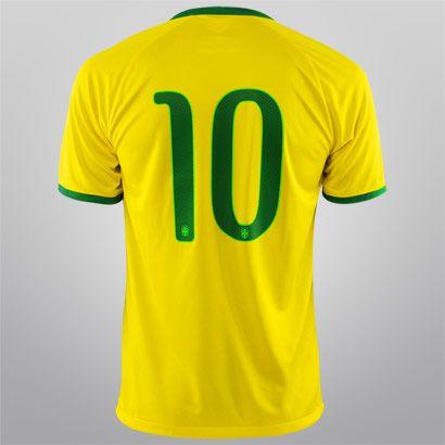 Acabei de visitar o produto Camisa Nike Seleção Brasil I 2014 nº 10 - Torcedor