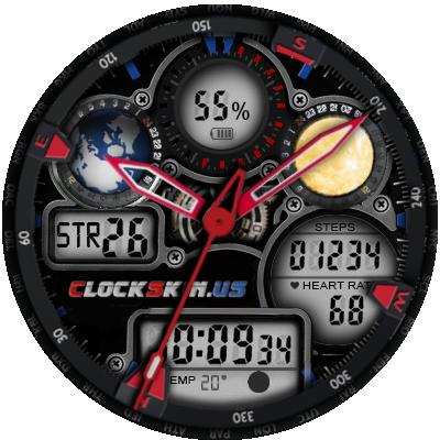 clock skin lemfo, Digital & Analog Animation,Watch faces