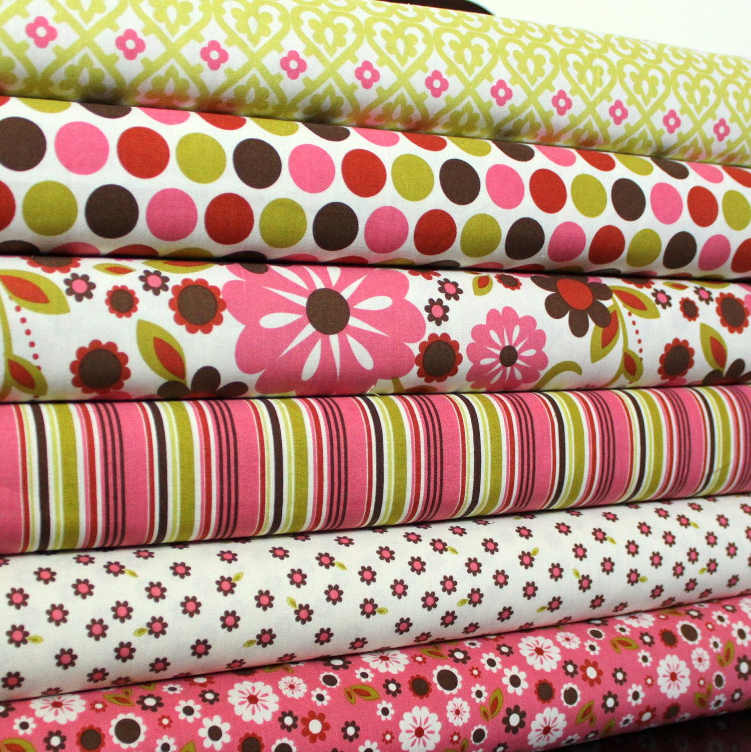 Brown And Pink Fl Fabric Indian Summer By Zoe Pearn For Riley Blake Half Yard Bundle 6 Prints 3 Yards Total Baby Crib Beddingbaby