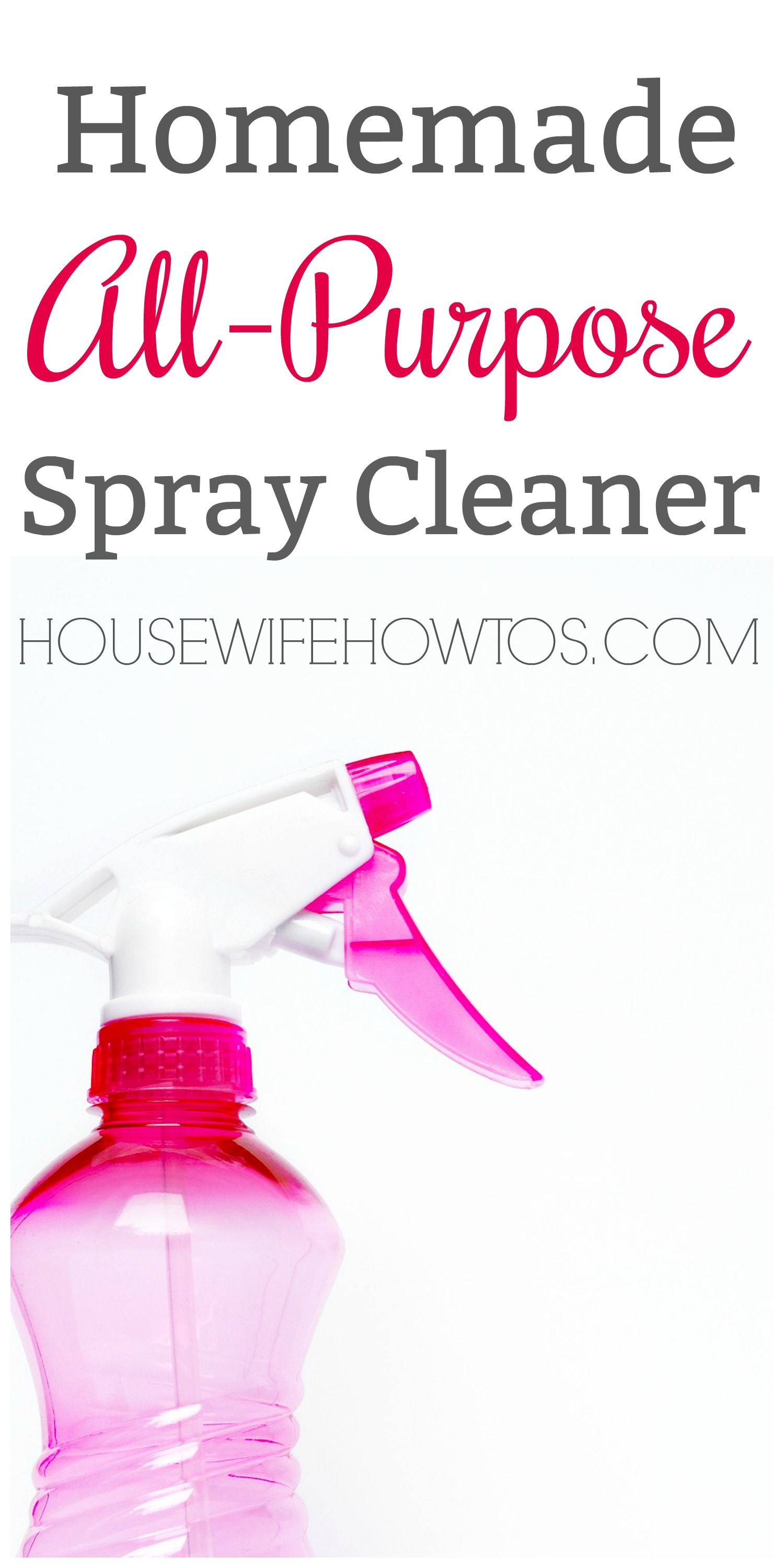 Homemade All-Purpose Spray Cleaner - Get a natural clean using ingredients from your kitchen #homemadecleaner #naturalcleaning #cleaning #cleaningmix ...