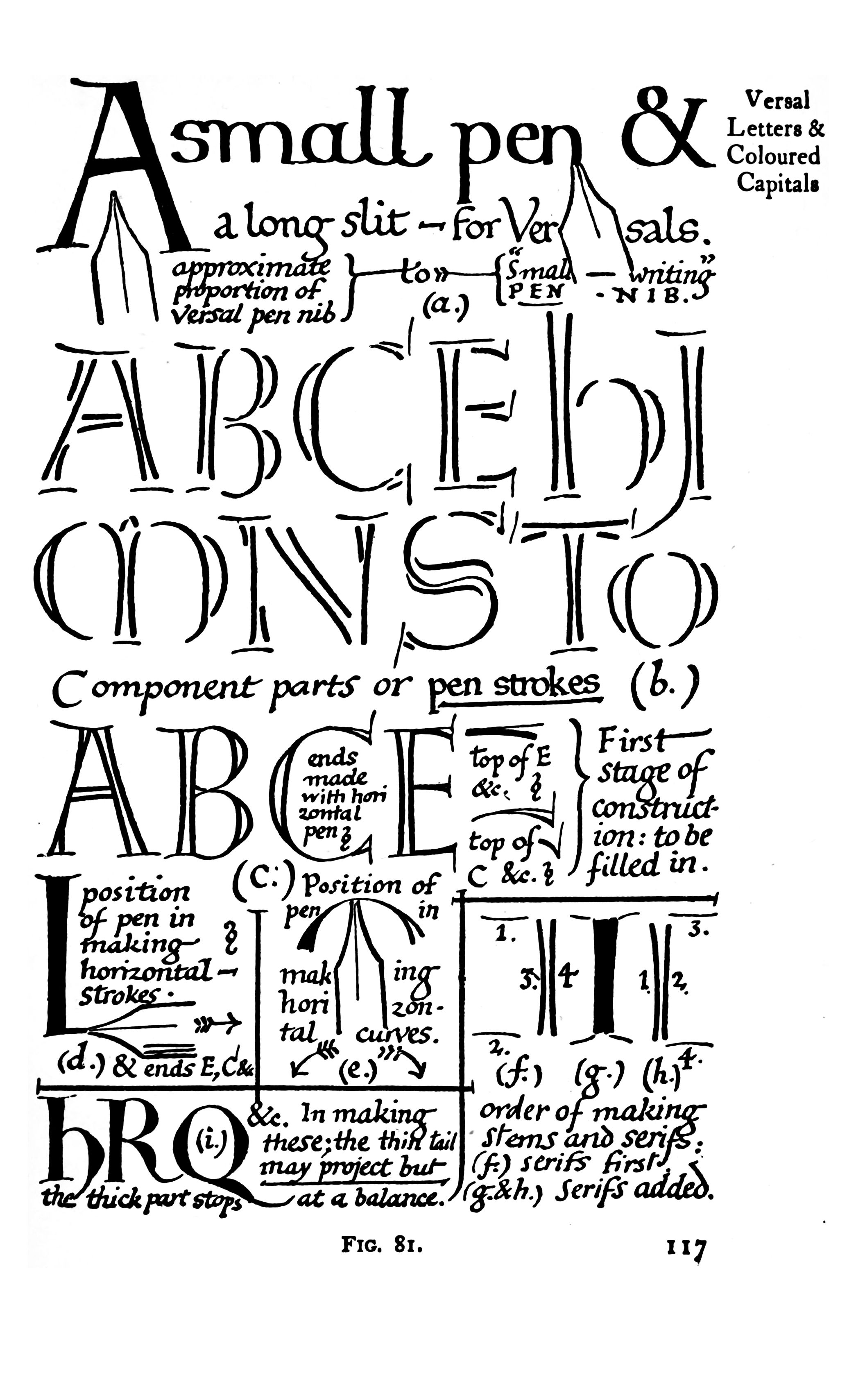 How to create Versal letters. (I believe this page is from