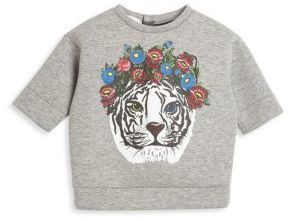 fad5c018f34 Gucci Baby's Tiger-Print Cotton Sweatshirt | Products | Girls ...