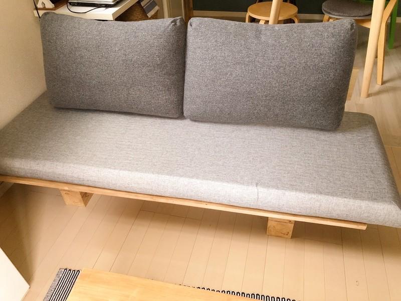 簡単diy 背もたれ付きのソファーを簡単に作ってみました 2020 ソファ 手作り 手作りソファー ソファ Diy 作り方