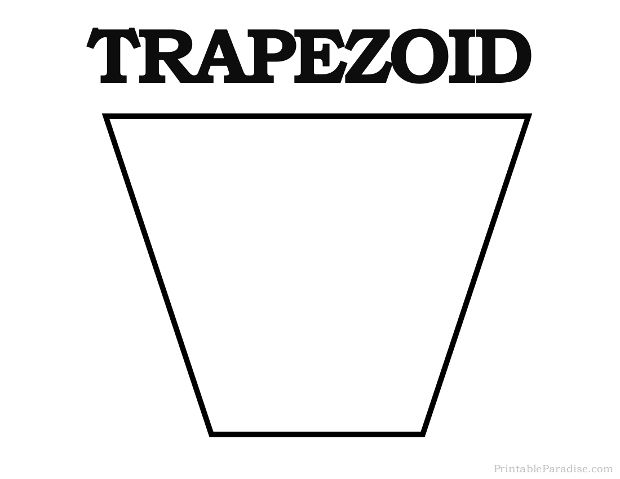 Printable Trapezoid Shape Shapes Preschool Shapes For Kids