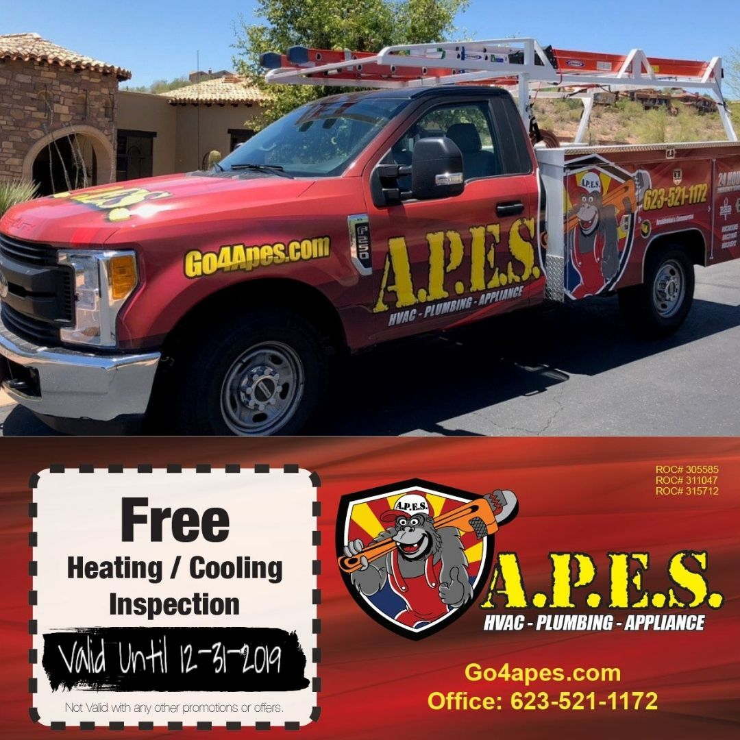 A P E S Heating Cooling And Plumbing Surprise Az Mom Plumbing Hvac Technician Water Treatment System