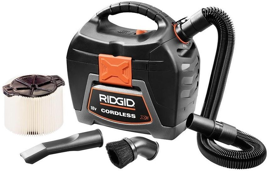 Tool Only RIDGID GEN5X 18-Volt Brushless Cordless Wet//Dry Vacuum Attachments