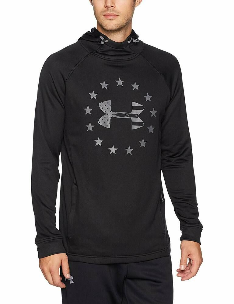 86219543 Under Armour Men's Black/Gray UA Freedom Tech French Terry Pullover ...