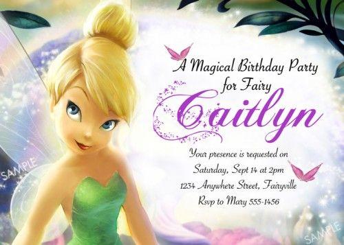 Tinkerbell Disney Princess Birthday Party Invitation Birthday Party Invitations Free Birthday Party Invitations Printable Princess Birthday Party Invitations