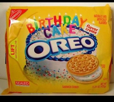 Oreo Birthday Cake Flavor Creme Cookies Limited Edition 1525oz