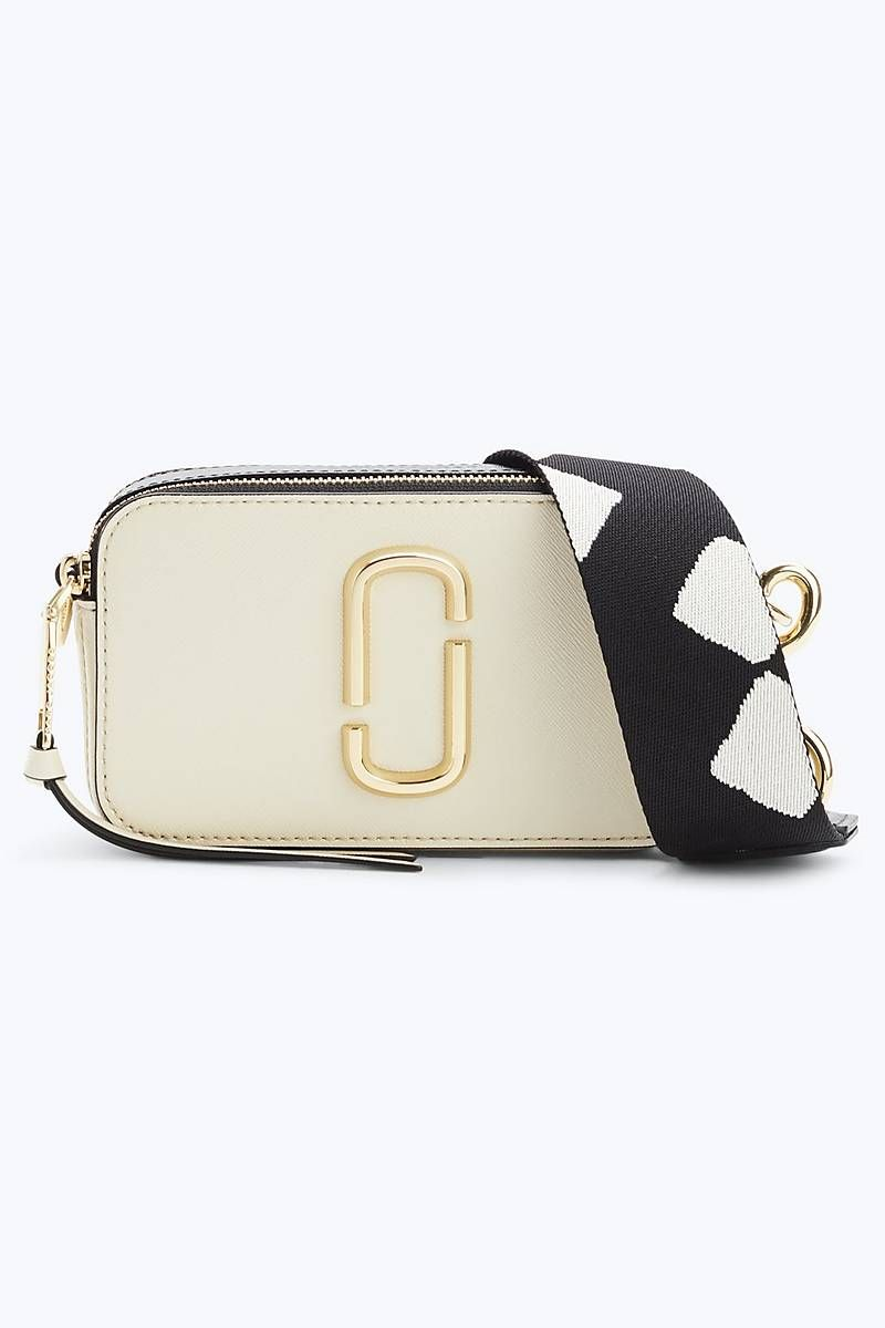 Marc Jacobs Snapshot Small Camera Bag In Cloud White