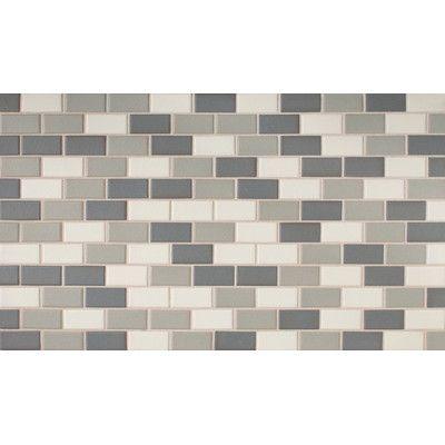 Daltile Keystones 2 X 1 Mosaic Tile In Moonlight Blend