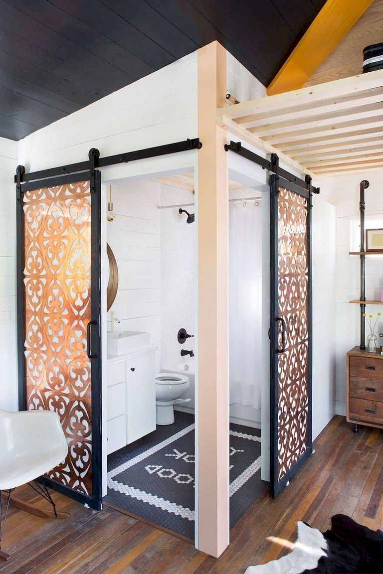 64+ Best Tiny House Bathroom Design Ideas #tinyhousebathroom