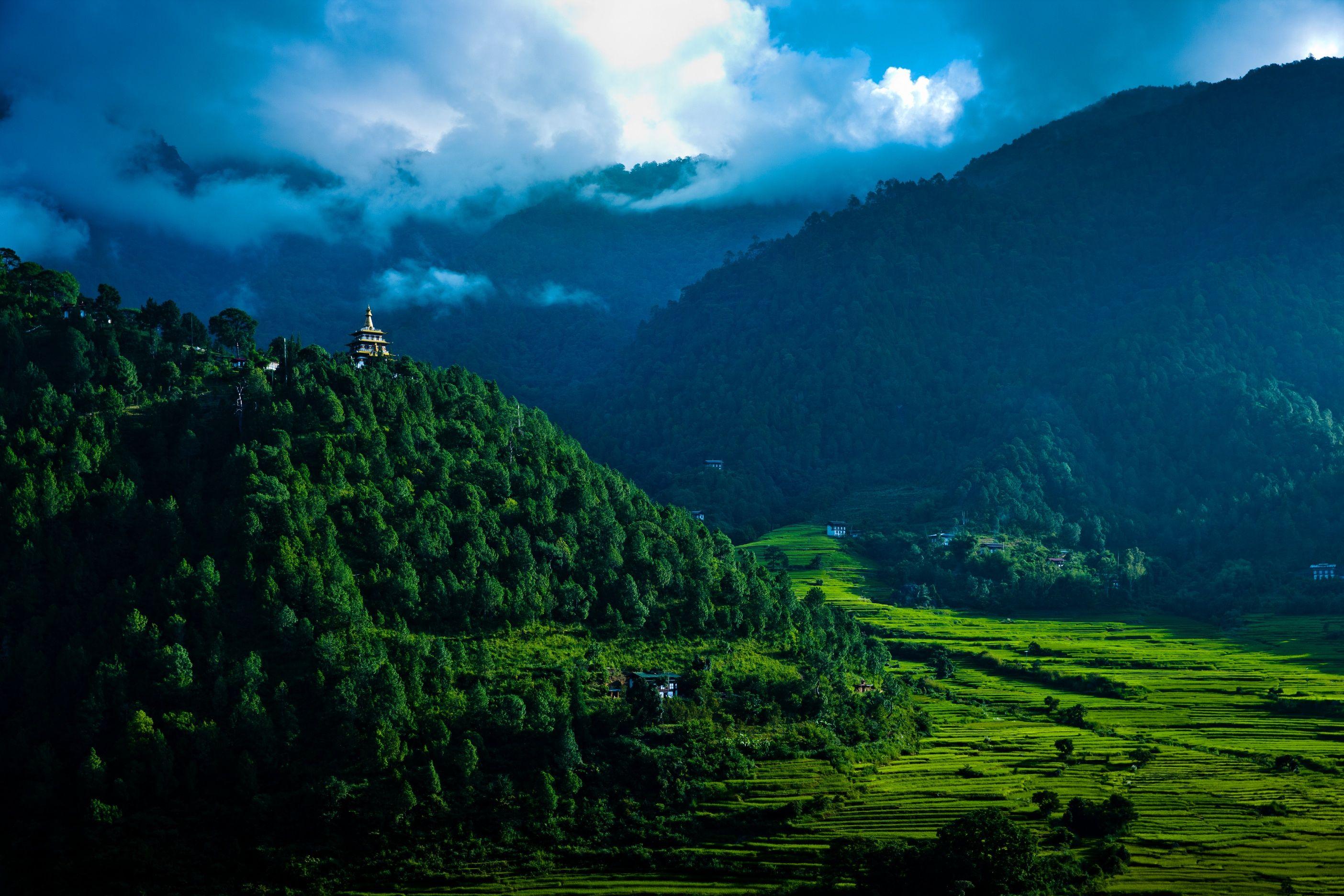 Valley view, Uma Punakha, Bhutan.