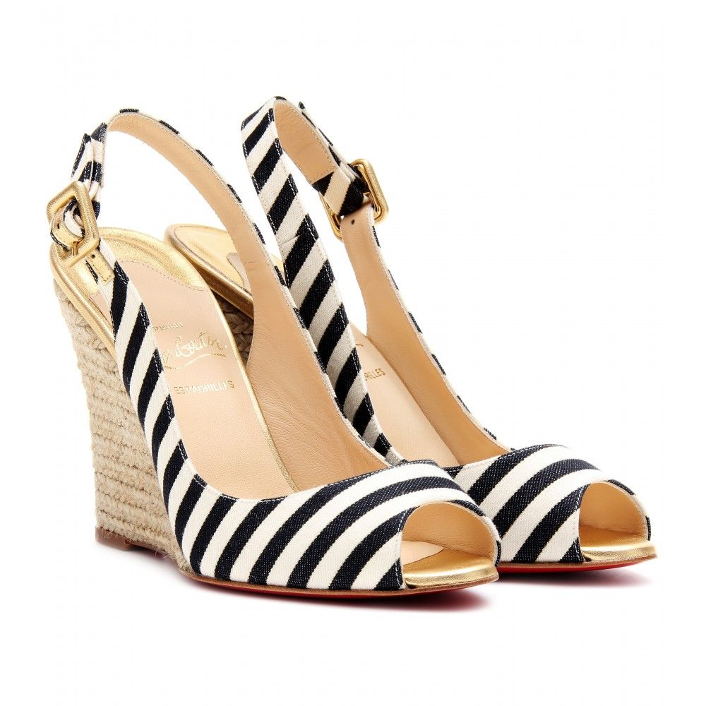 Christian Louboutin Striped Espadrille Sandals visit sale online in China cheap online cheap official site cheap sale huge surprise sale fashion Style zlEiHeil2