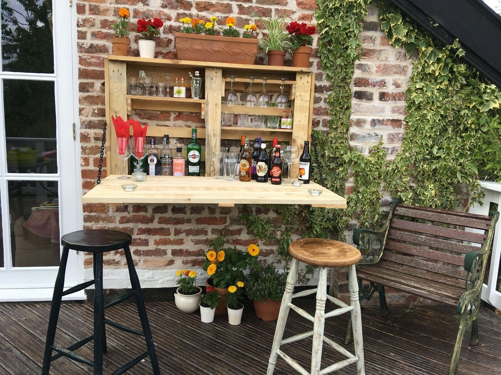 Details about Solid wood indoor/outdoor mini pallet bar ...