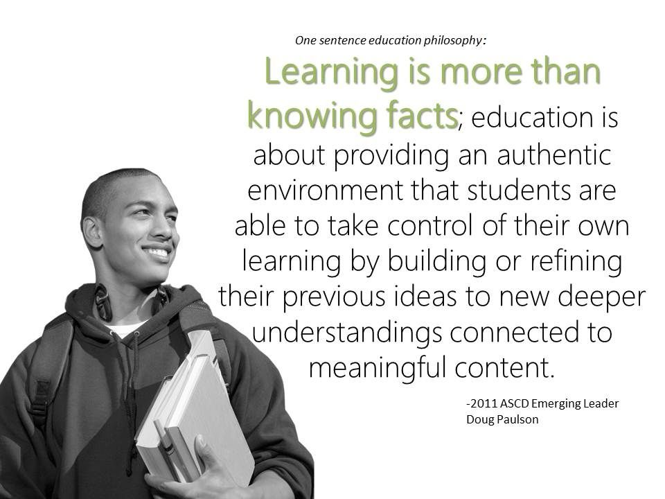 Eight Questions For 2011 Emerging Leader Doug Paulson Ascd Inservice Teaching Philosophy Teaching Education Motivation