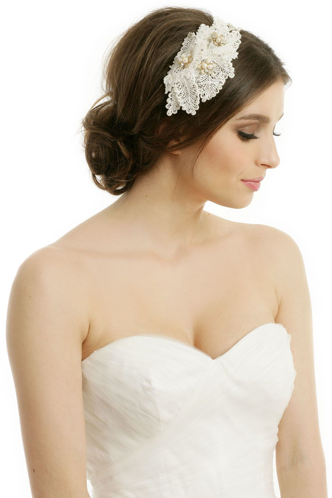 rent pretty in pearls headband by rtr bridal accessories for $25