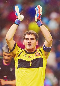 Saint Iker, sent from God to deliver Spain numerous victories since 2008. GLORY BE CASILLAS!