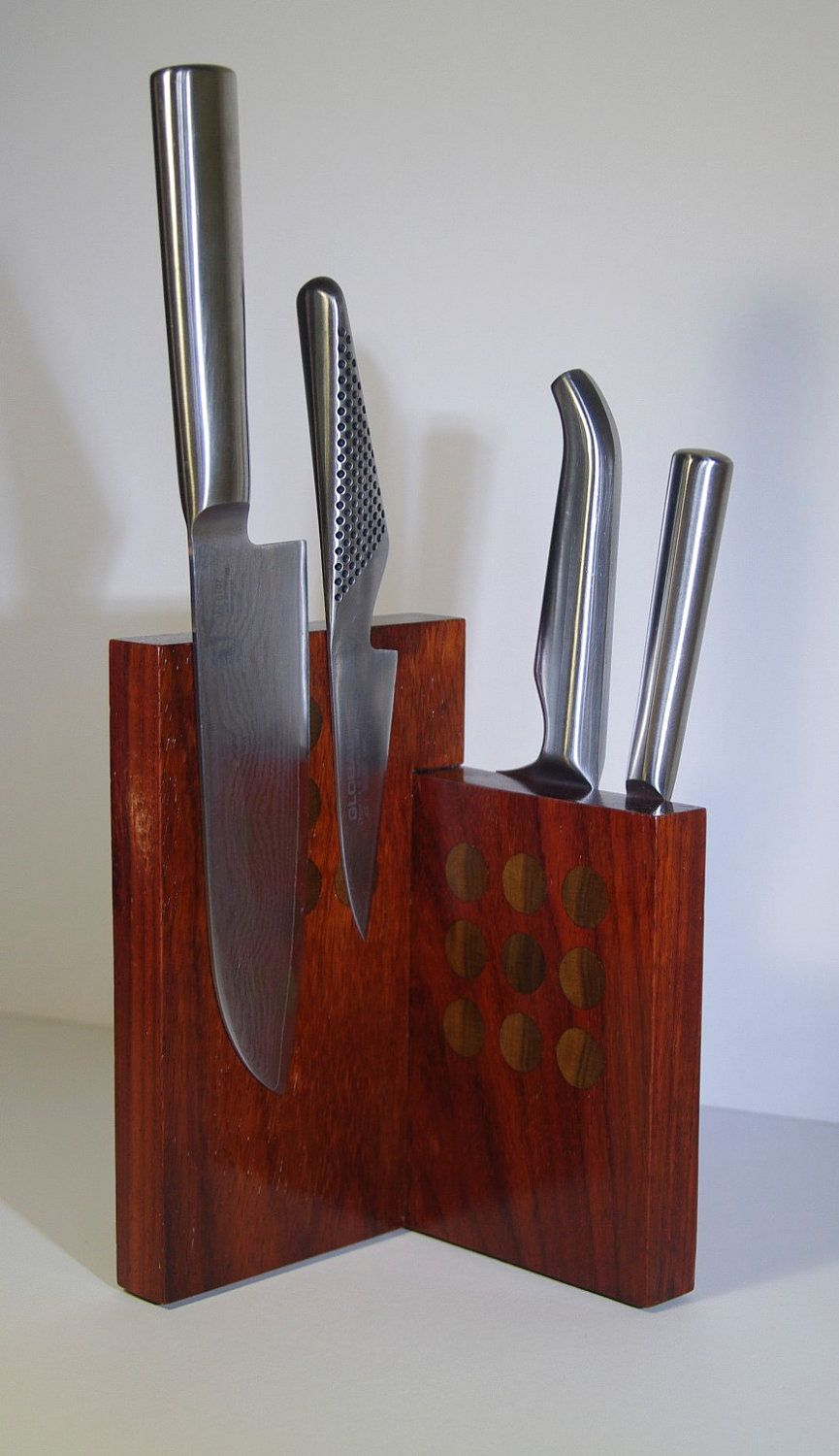 Countertop Paduk Knife Block. 130.00, via Etsy