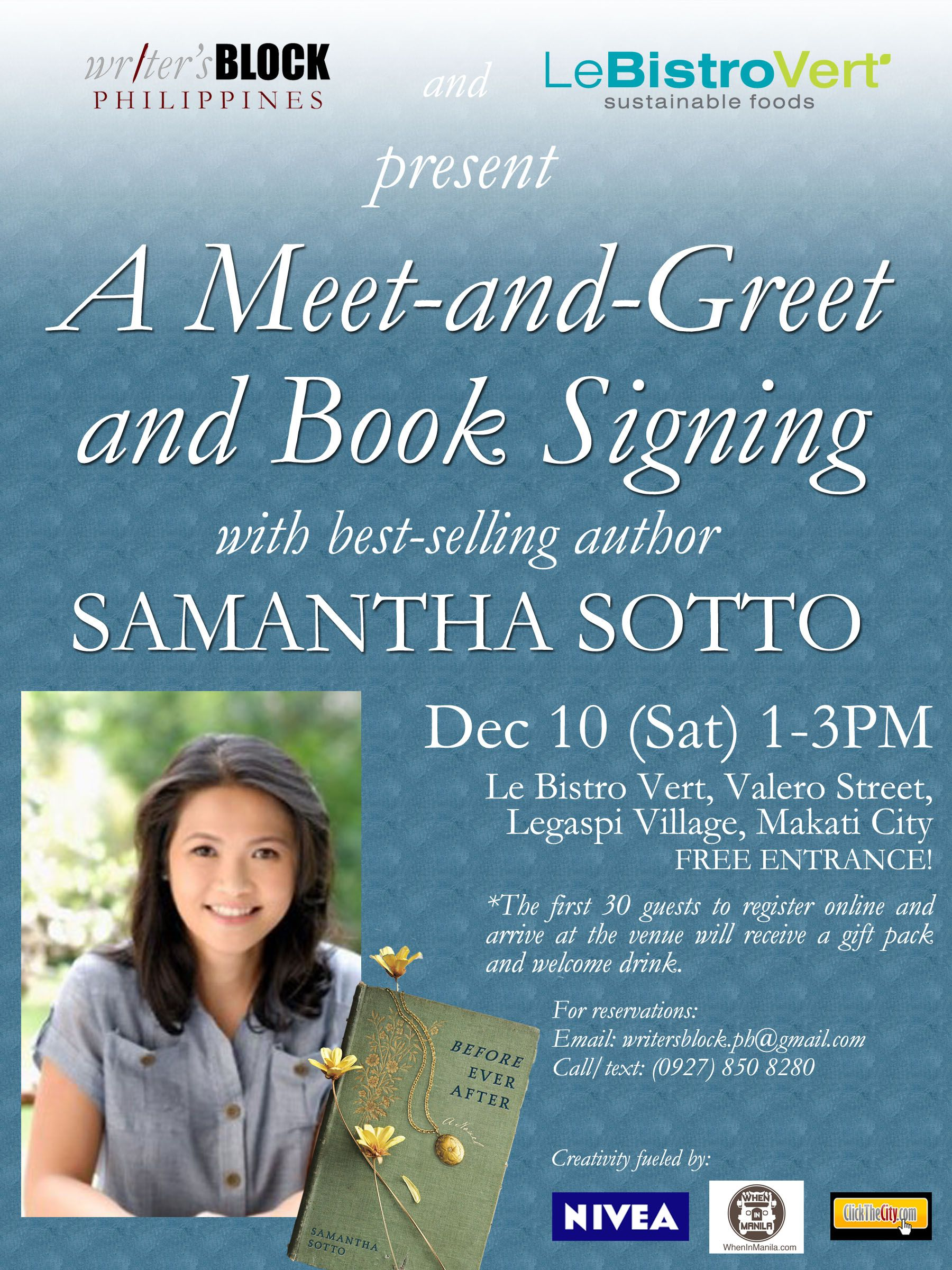 Book Signing Poster For Promoting Book Google Search Marketing