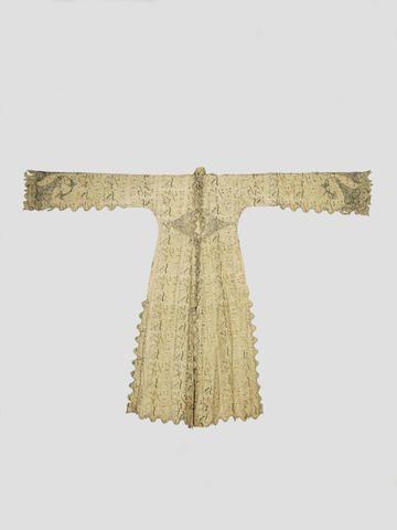 An Ottoman silk embroidered cotton Coat Turkey, 18th Century