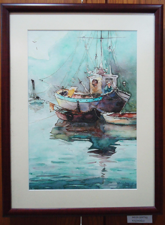 Original Watercolor Paint Boat Paint Sea Paint Home Decor Wall