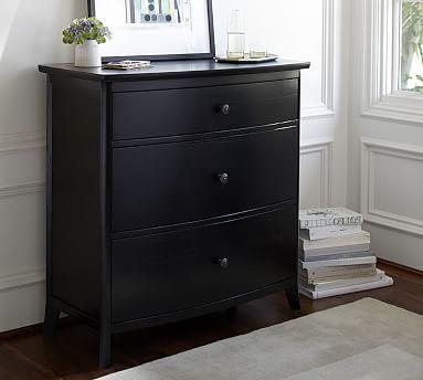 Chloe 3 Drawer Dresser Furniture Furniture For Small Spaces Black Bedroom Furniture