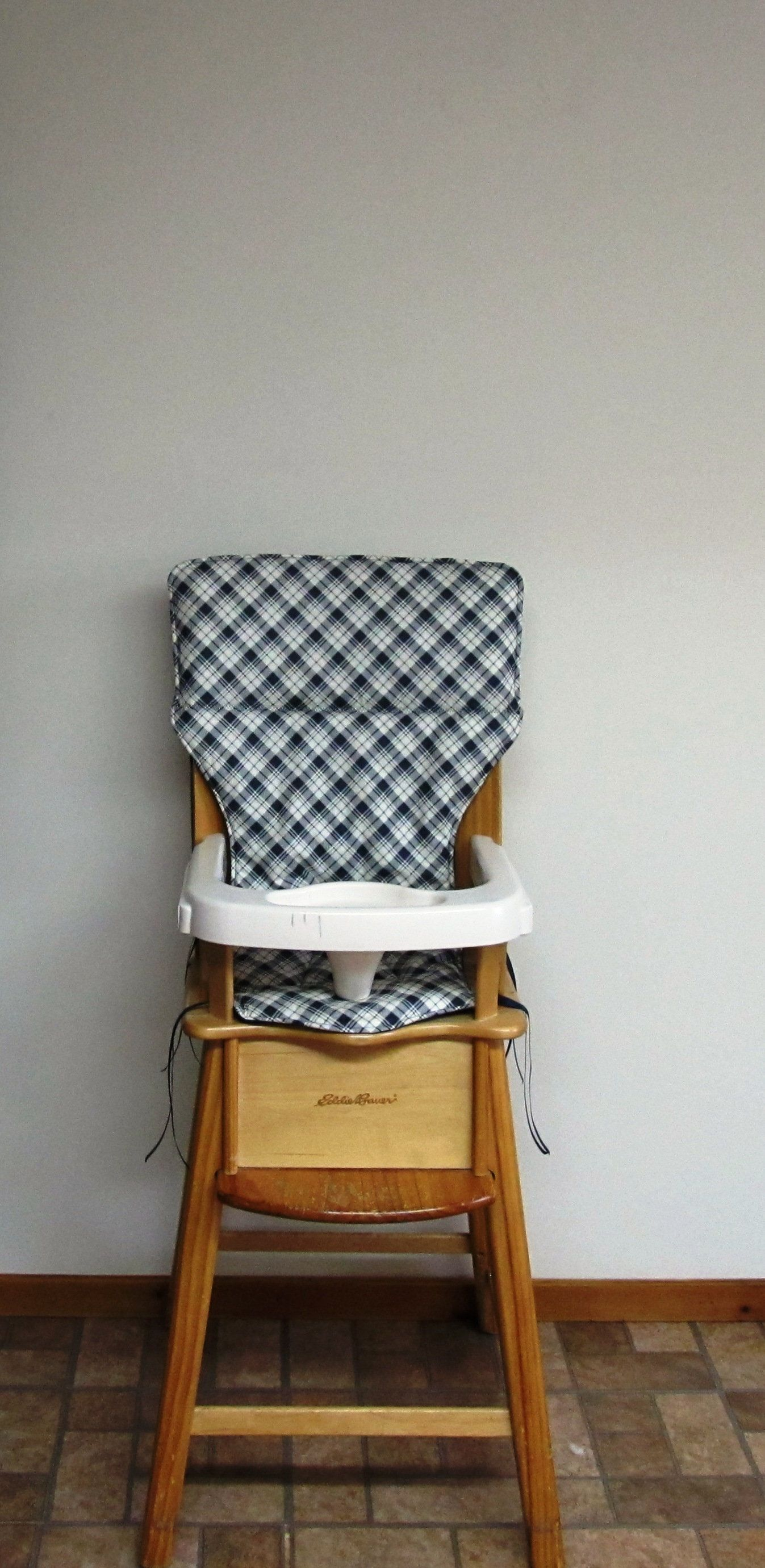 Eddie Bauer Replacement High Chair Cover Cotton Fabric Wooden
