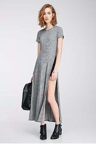 ade11730cff Forever 21 High Slit Maxi Dress
