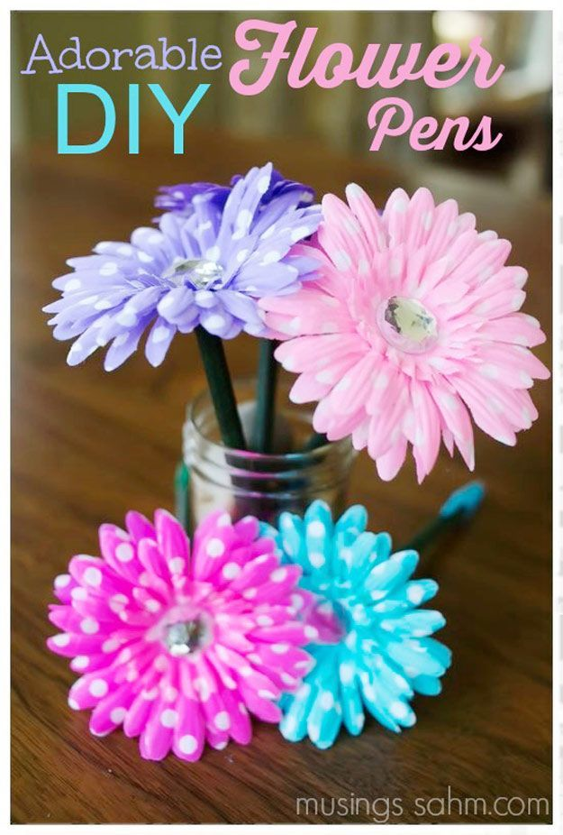 47 fun pinterest crafts that arent impossible cool diy projects 47 fun pinterest crafts that arent impossible cool diy projects pinterest flower pens handmade birthday gifts and diy flower solutioingenieria Gallery