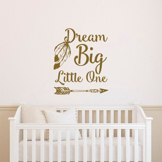dream big little one nursery wall decal quote- wall decal kids room