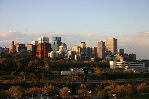 nice Edmonton Skyline