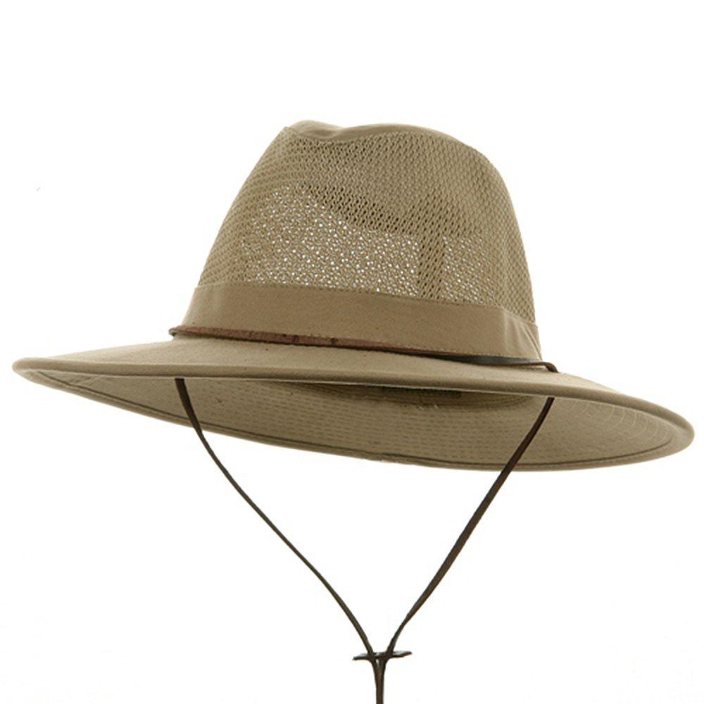 2be98ecf48a688 Big Size Mesh Safari Hats -Camel   Man bags