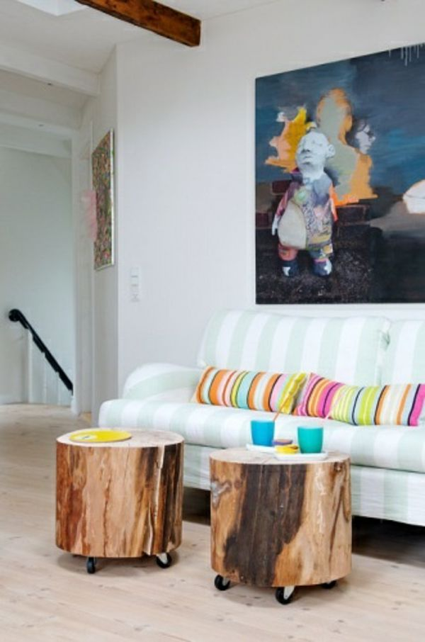 50 Couchtische Aus Baumstamm Gestaltet Small House Ideas Pinterest